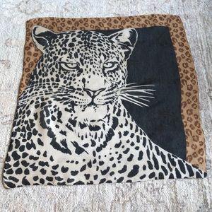 VTG Leopard Print Animal Face scarf